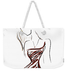 Girl In Red Weekender Tote Bag