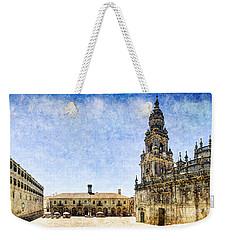 Girl In Santiago - Vintage Version Weekender Tote Bag