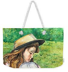 Girl In Straw Hat Weekender Tote Bag