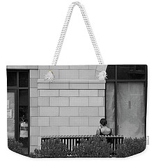 Girl On A Bench, New Village Weekender Tote Bag by Steve Gravano