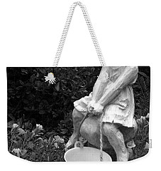 Weekender Tote Bag featuring the photograph Girl On A Mushroom by Sandi OReilly