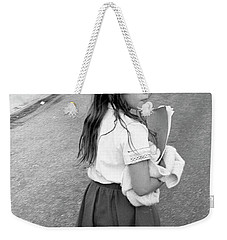 Girl Returns Home From School, 1971 Weekender Tote Bag