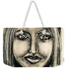 Weekender Tote Bag featuring the digital art Girl by Sladjana Lazarevic