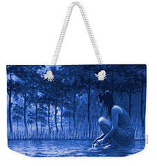 Girl Washing At The River Weekender Tote Bag by Diane Schuster