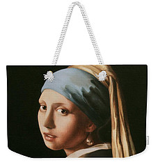 Girl With A Pearl Earring - After Vermeer Weekender Tote Bag