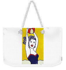 Girl With Ball - Signed  Weekender Tote Bag