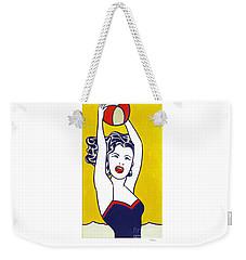 Girl With Ball - Pop Art - Roy Lichtenstein Weekender Tote Bag