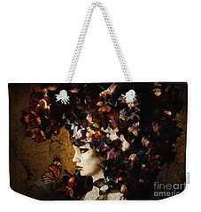 Girl With Flower Hat Weekender Tote Bag