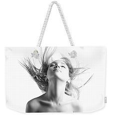Girl With Flying Blond Hair Weekender Tote Bag by Olena Zaskochenko