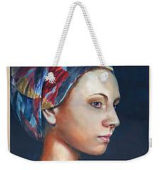 Girl With Headscarf Weekender Tote Bag