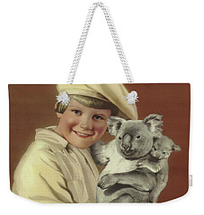 Girl With Koala And Its Baby Weekender Tote Bag