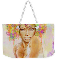 Girl With New Hair Style Weekender Tote Bag