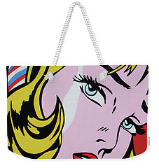 Girl With Ribbon Weekender Tote Bag