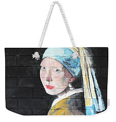 Girl With The Pearl Earring Weekender Tote Bag by Stan Tenney
