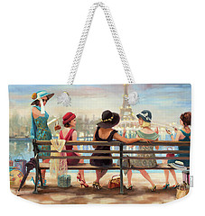 Weekender Tote Bag featuring the painting Girls Day Out by Steve Henderson