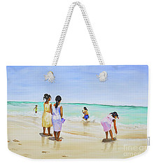 Girls On The Beach Weekender Tote Bag