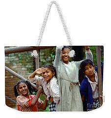 Girls Smiling In Kathmandu, Nepal Weekender Tote Bag