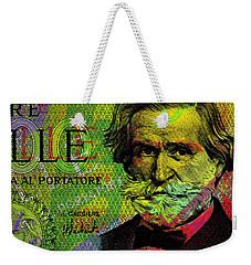 Giuseppe Verdi Portrait Banknote Weekender Tote Bag