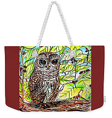 Give A Hoot Weekender Tote Bag by Patricia L Davidson