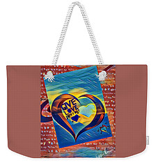 Give Love Weekender Tote Bag