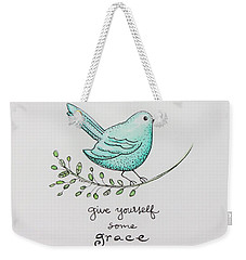 Give Yourself Some Grace Weekender Tote Bag by Elizabeth Robinette Tyndall