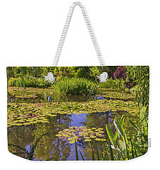 Weekender Tote Bag featuring the photograph Giverny France - Claude Monet's Pond  by Allen Sheffield