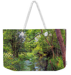 Weekender Tote Bag featuring the photograph Giverny Paradise by John Rivera