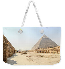 Weekender Tote Bag featuring the photograph Giza by Silvia Bruno