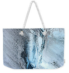 Weekender Tote Bag featuring the photograph Glacial Abstract by Kristin Elmquist