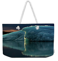 Glacial Lagoon Reflections Weekender Tote Bag