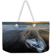 Weekender Tote Bag featuring the photograph Glacial Shard by Rikk Flohr