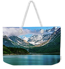 Weekender Tote Bag featuring the photograph Glacial Valley by John Hight