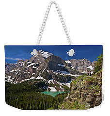Weekender Tote Bag featuring the photograph Glacier Backcountry 2 by Gary Lengyel