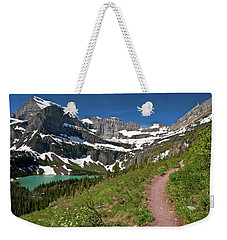 Weekender Tote Bag featuring the photograph Glacier Backcountry Trail by Gary Lengyel