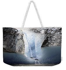 Weekender Tote Bag featuring the photograph Glacier Calving - Alaska by Madeline Ellis
