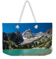 Glacier Fed Teton Lake Weekender Tote Bag by Serge Skiba