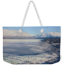 Weekender Tote Bag featuring the photograph Glacier In Alaska by Jingjits Photography