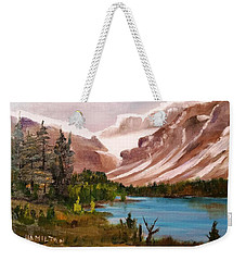 Glacier Lake Weekender Tote Bag by Larry Hamilton
