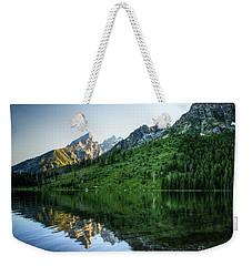 Glacier Lake Weekender Tote Bag by Rebecca Hiatt