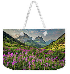 Glacier Meadow Weekender Tote Bag