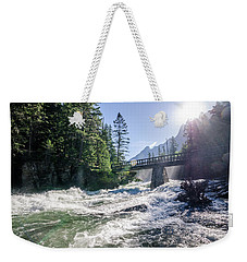 Weekender Tote Bag featuring the photograph Glacier National Park Beauty by Margaret Pitcher