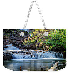 Glacier National Park Waterfall 3 Weekender Tote Bag by Andres Leon