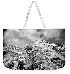 Weekender Tote Bag featuring the photograph Glacier On Mt Rainier by Lori Seaman