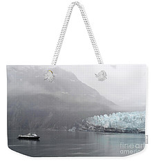 Weekender Tote Bag featuring the photograph Glacier Ride by Zawhaus Photography
