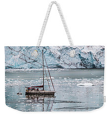 Weekender Tote Bag featuring the photograph Glacier Sailing by Ed Clark