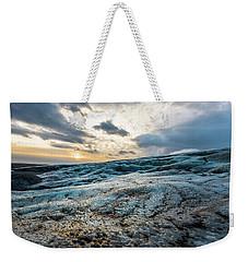 Glacier Sunrise Weekender Tote Bag