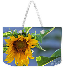 Weekender Tote Bag featuring the photograph Glad To Be Here by Angela J Wright