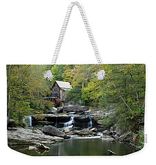 Weekender Tote Bag featuring the photograph Glade Creek Grist Mill by Ann Bridges