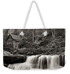 Glade Creek Grist Mill Monochrome Weekender Tote Bag