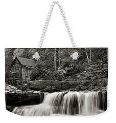 Glade Creek Grist Mill Monochrome Weekender Tote Bag by Chris Flees